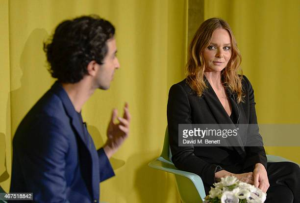 Stella McCartney in conversation with Imran Amed at Second Home on March 25 2015 in London England