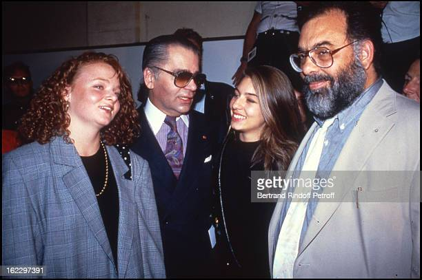 Stella Mccartney Karl Lagerfeld Sofia Coppola and her father Francis Ford Coppola at the Chanel 1988 Fall/Winter Collection Fashion Show