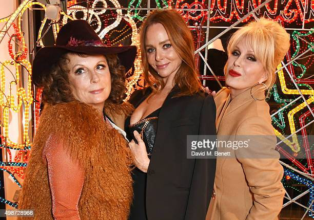 Stella McCartney poses with Jennifer Saunders and Joanna Lumley as Edina Monsoon and Patsy Stone at the Stella McCartney Christmas Lights switch on...