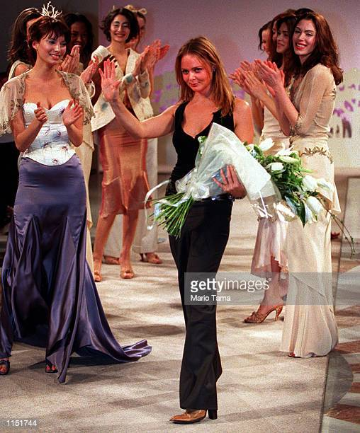 Stella McCartney presented her spring fashion collection for the French fashion house Chloe in Washington DC January 27 1999 McCartney greets the...