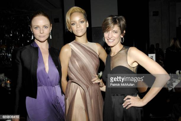 Stella McCartney Rihanna and Cindi Leive attend GLAMOUR WOMEN OF THE YEAR AWARDS DINNER at South Gate at the Jumeirah Essex House on November 9 2009...