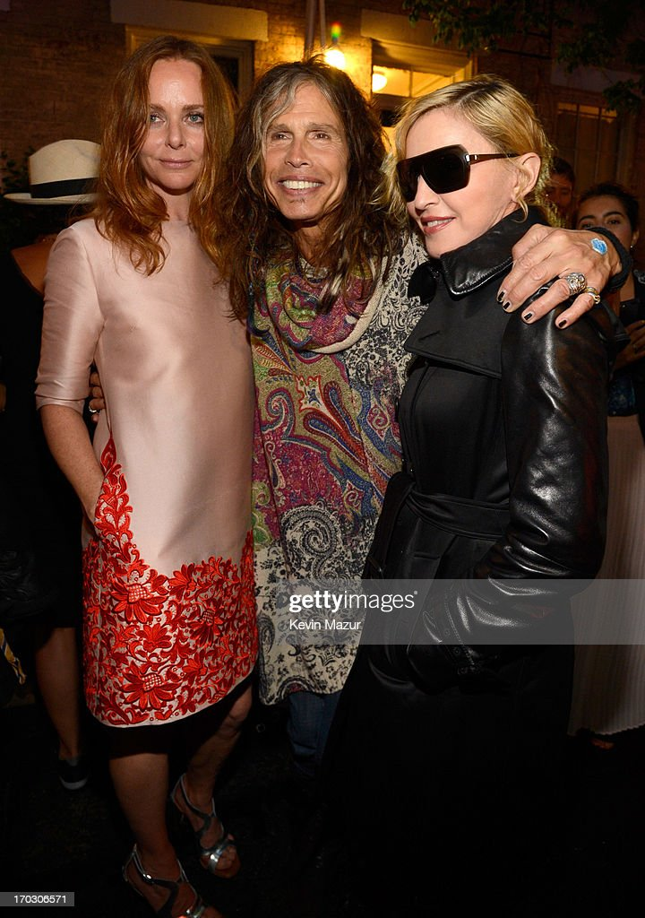 Stella McCartney, Steven Tyler and Madonna attend the Stella McCartney Spring 2014 Collection Presentation at West 10th Street on June 10, 2013 in New York City.