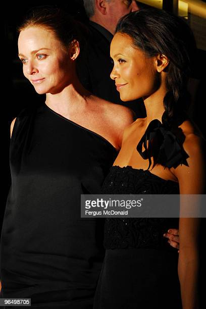 LR Stella McCartney Thandie Newton attend the UK premiere for 'Food Inc' held the at The Curzon Mayfair on February 8 2010 in London England