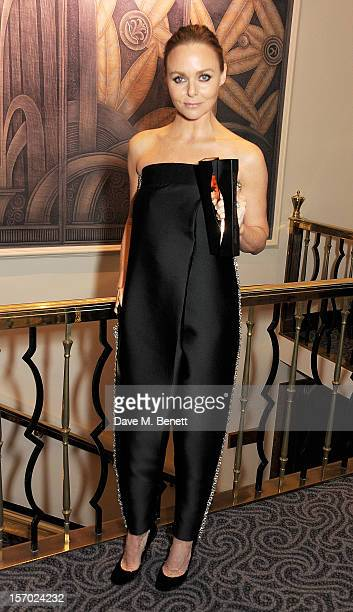 Stella McCartney winner of Designer of the Year and Designer Brand of the Year poses at the British Fashion Awards 2012 at The Savoy Theatre on...