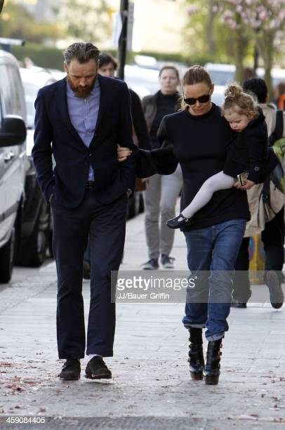 Stella McCartney with Alasdhair Willis and daughter Reiley Willis are seen on April 30 2013 in London United Kingdom