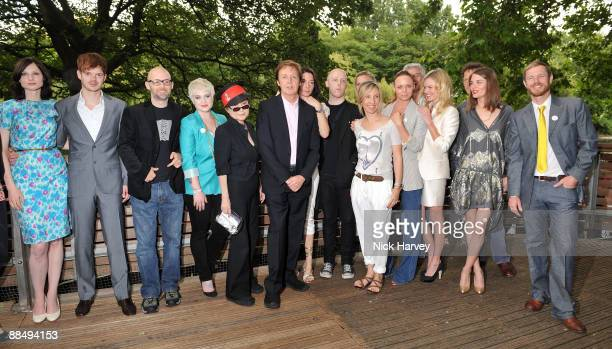 Stella McCartney, Yoko Ono, Paul McCartney, Mary MacCartney and James McCartney and the rest of the guests pose for the media as The McCartney Family...