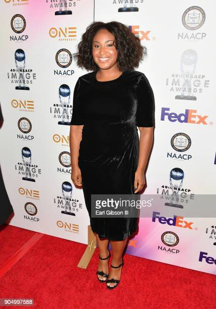 Stella Meghie at the 49th NAACP Image Awards NonTelevised Awards Dinner at the Pasadena Conference Center on January 14 2018 in Pasadena California