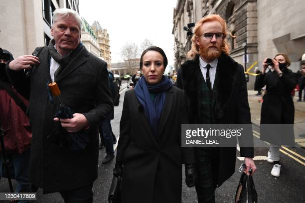 Stella Moris , partner of Wikileaks founder Julian Assange arrives at the Old Bailey court in central London for the ruling on his extradition...