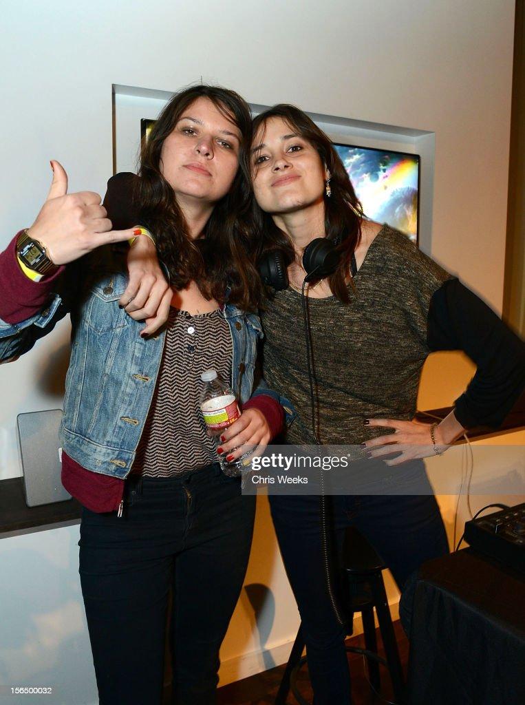 Stella Mozgawa and Teresa of Warpaint attend 'Missing', an interative installation by XX, Kyle McDonald, Aramique Krauthamer and Matt Mets at Sonos Studio on November 15, 2012 in Los Angeles, California.