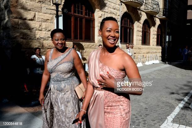 Stella NdabeniAbrahams the South African Minister of of Communications and Telecommunications arrives ahead of the State of the Nation address by...