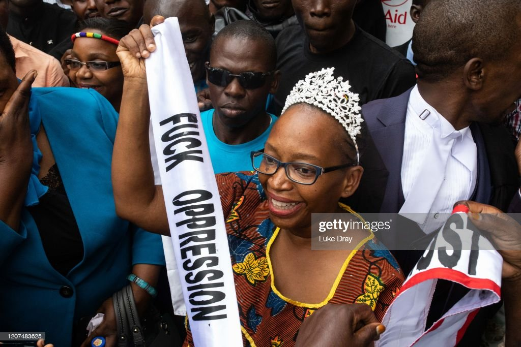 Ugandan Activist Stella Nyanzi Released From Prison : News Photo