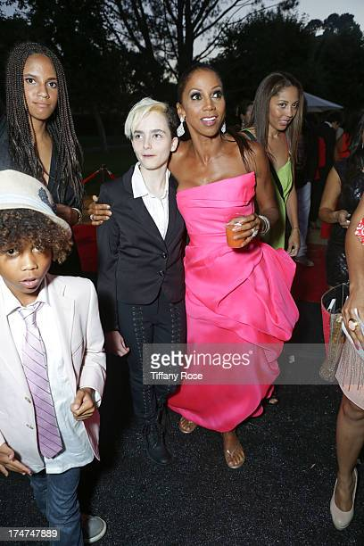 Stella Ritter and Holly Robinson Peete attend the 15th Annual DesignCare benefiting The HollyRod Foundation on July 27, 2013 in Malibu, California.