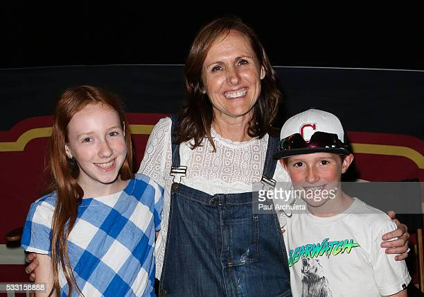 Stella Shannon Chestnut Molly Shannon and Nolan Shannon Chesnut attends the QA and screening of Superstar at the Egyptian Theatre on May 20 2016 in...