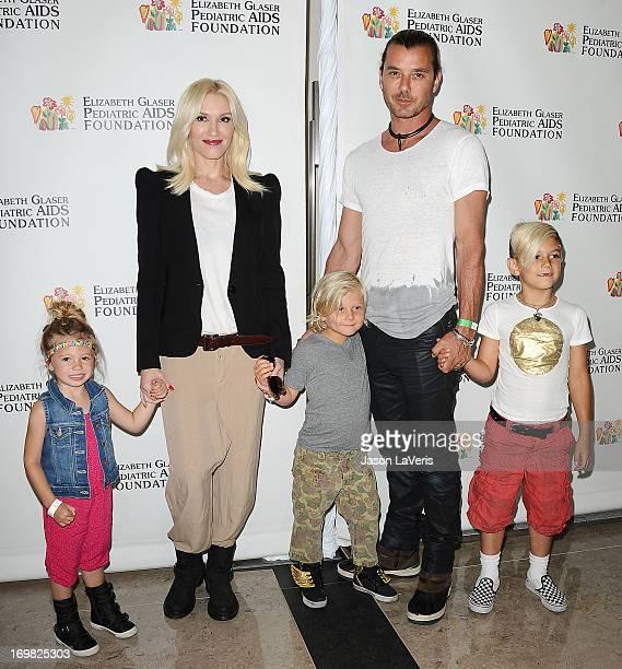 Stella Stefani Gwen Stefani Zuma Rossdale Gavin Rossdale and Kingston Rossdale attend the Elizabeth Glaser Pediatric AIDS Foundation's 24th annual A...