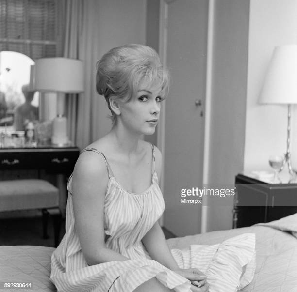 Stella Stevens American film television and stage actress pictured in her hotel suite London Wednesday 22nd November 1961 Stella Stevens is in the UK...