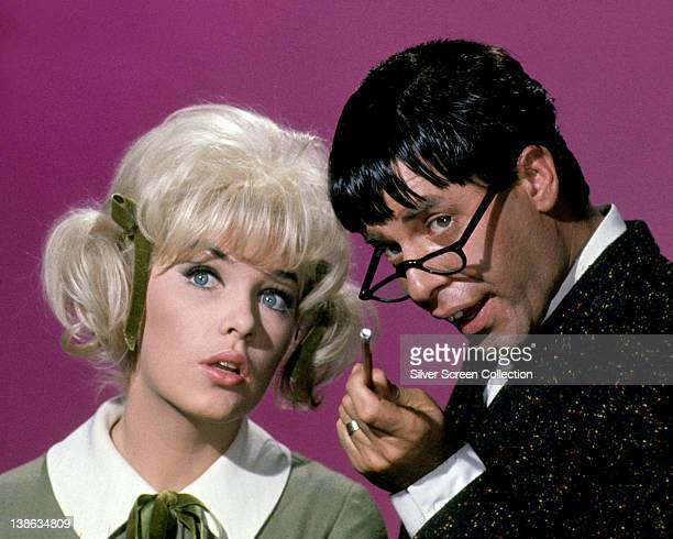 Stella Stevens US actress and Jerry Lewis US actor and comedian in a publicity image issued for the film 'The Nutty Professor' USA 1963 The comedy...