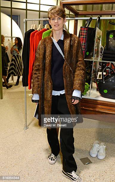 Stella Tennant attends an exclusive VIP preview of the Dover Street Market on March 18 2016 in London England