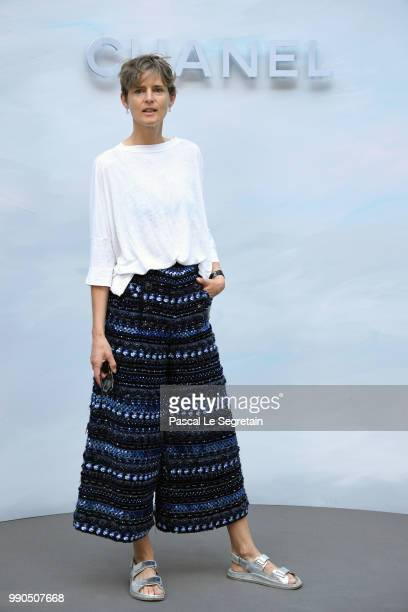 Stella Tennant attends the Chanel Haute Couture Fall Winter 2018/2019 show as part of Paris Fashion Week on July 3 2018 in Paris France