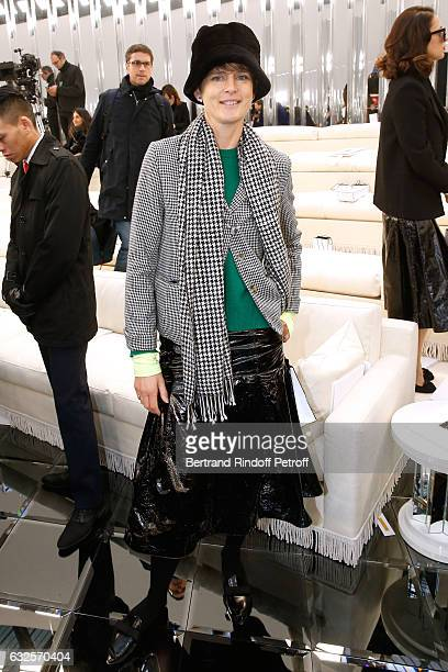 Stella Tennant attends the Chanel Haute Couture Spring Summer 2017 show as part of Paris Fashion Week on January 24 2017 in Paris France