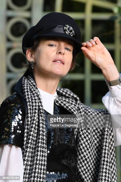 Stella Tennant attends the Chanel Haute Couture Spring Summer 2018 show as part of Paris Fashion Week on January 23 2018 in Paris France