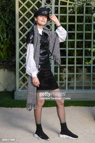 Stella Tennant attends the Chanel Haute Couture Spring Summer 2018 show as part of Paris Fashion Week January 23 2018 in Paris France