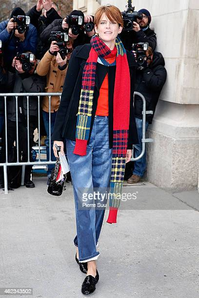 Stella Tennant attends the Chanel show as part of Paris Fashion Week Haute Couture Spring/Summer 2015 on January 27 2015 in Paris France