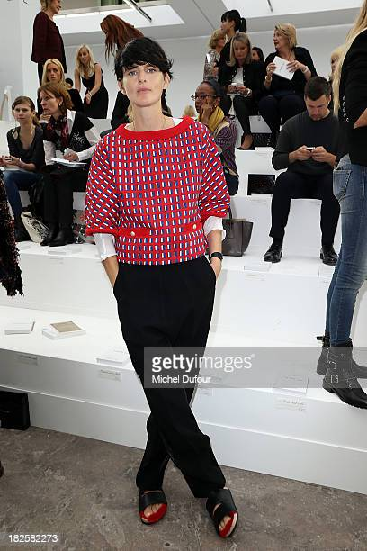Stella Tennant attends the Chanel show as part of the Paris Fashion Week Womenswear Spring/Summer 2014 on October 1 2013 in Paris France