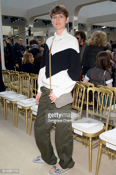 Stella Tennant attends the Chanel show as part of the Paris Fashion Week Womenswear Fall/Winter 2016/2017 on March 8 2016 in Paris France