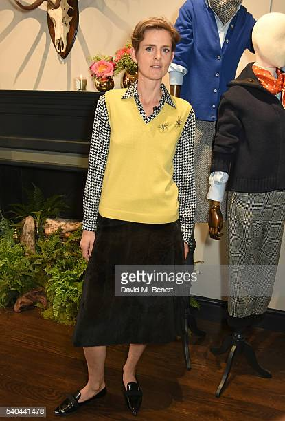 Stella Tennant attends the launch of Stella Tennant and Isabella Cawdor's collection for Holland Holland at their Bruton Street store on June 15 2016...