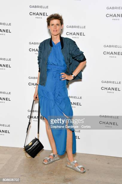 Stella Tennant attends the launch party for Chanel's new perfume 'Gabrielle' as part of Paris Fashion Week on July 4 2017 in Paris France
