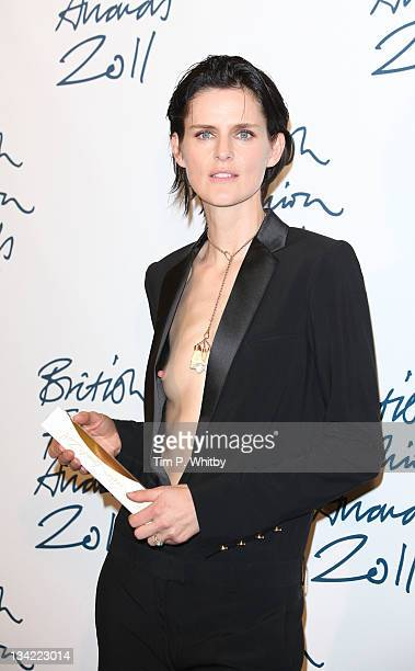 Stella Tennant in the press room at the British Fashion Awards 2011 at The Savoy Hotel on November 28 2011 in London England