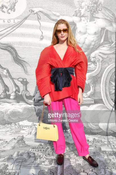 Stella Von Senger arrives at the Gucci show during Milan Fashion Week Autumn/Winter 2019/20 on February 20, 2019 in Milan, Italy.