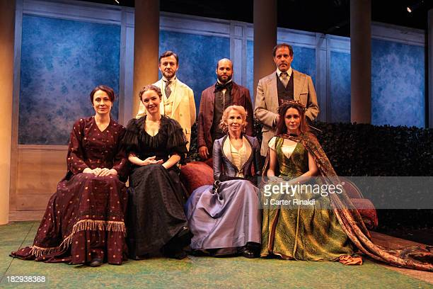 "StellaFeehily, Amanda Quaid, Trudie Styler and Rachel Spencer Hewitt, Alan Cox, Slate Holmgren and Rufus Collins pose during ""The Seagull"" cast photo..."