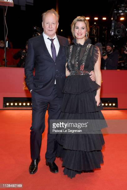Stellan Skarsgard and Danica Curcic attend the Out Stealing Horses premiere during the 69th Berlinale International Film Festival Berlin at Berlinale...