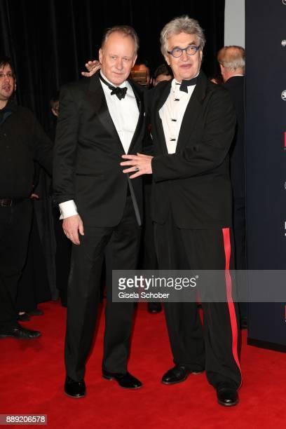 Stellan Skarsgard and Wim Wenders during the 30th European Film Awards 2017 at 'Haus der Berliner Festspiele' on December 9 2017 in Berlin Germany