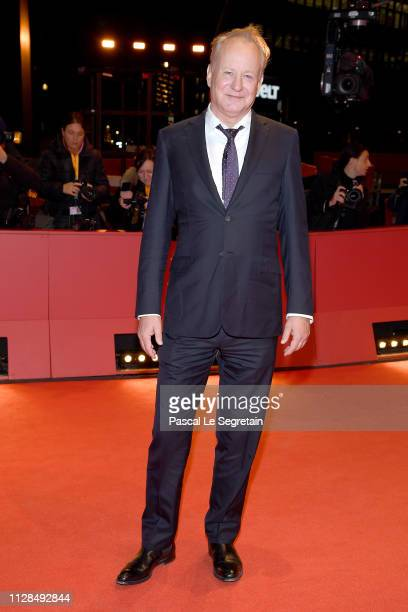 Stellan Skarsgard attends for the Out Stealing Horses premiere during the 69th Berlinale International Film Festival Berlin at Berlinale Palace on...