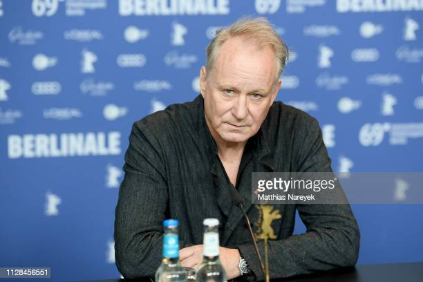 Stellan Skarsgard attends the Out Stealing Horses press conference during the 69th Berlinale International Film Festival Berlin at Grand Hyatt Hotel...