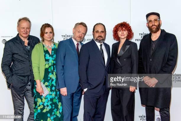Stellan Skarsgard Emily Watson Jared Harris Craig Mazin Jessie Buckley and Johan Renck attend Tribeca TV Chernobyl at the 2019 Tribeca Film Festival...