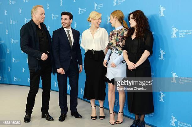 Stellan Skarsgard, Richard Madden, Cate Blanchett, Lily James and Helena Bonham Carter attend the 'Cinderella' photocall during the 65th Berlinale...