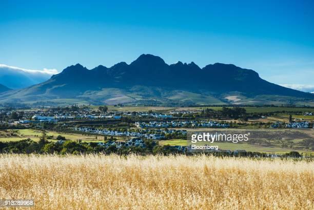 Stellenbosch Mountain stands beyond the De Zalze estate in Stellenbosch South Africa on Saturday Jan 27 2017 Markus Jooste former CEO of Steinhoff...
