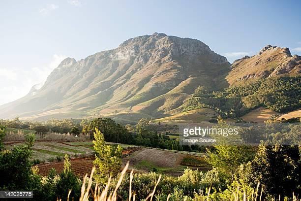 Stellenbosch Mountain, view from Hells Heights Pass, South Africa