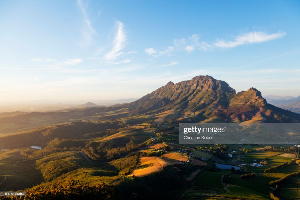 Stellenbosch, Simonberg mountains, Western Cape, South Africa, Africa : Stock Photo