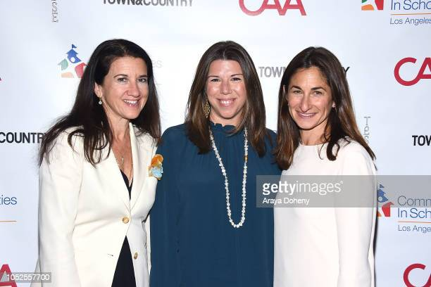 Stellene Volandes and Deborah Marcus attend Communities In Schools LA 'Lunch With a Leader' on October 19 2018 in West Hollywood California