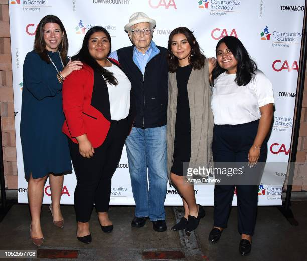 Stellene Volandes and Norman Lear attend Communities In Schools LA 'Lunch With a Leader' on October 19 2018 in West Hollywood California