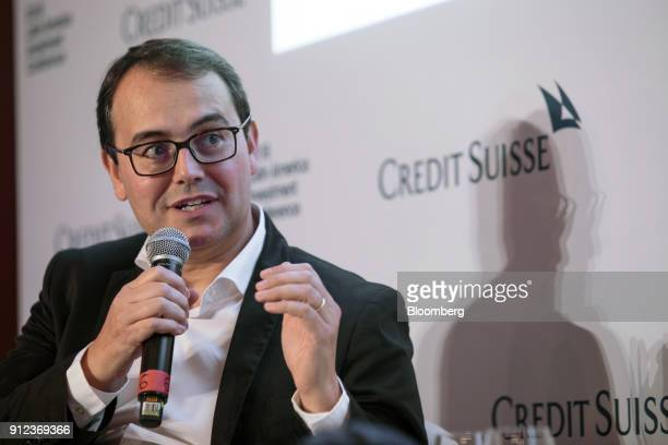 Stelleo Tolda founder and chief operating officer of MercadoLivrecom Atividades de Internet Ltda speaks during the 2018 Latin America Investment...