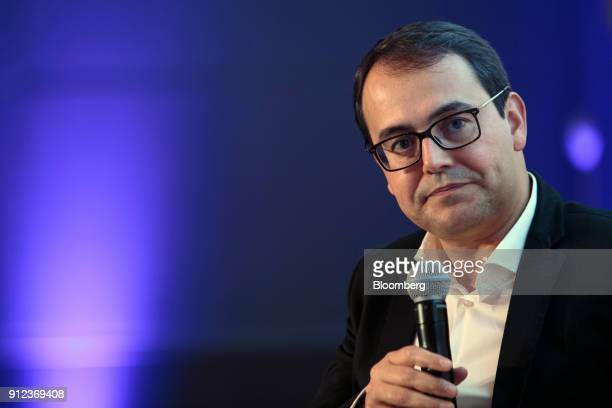 Stelleo Tolda founder and chief operating officer of MercadoLivrecom Atividades de Internet Ltda listens during the 2018 Latin America Investment...