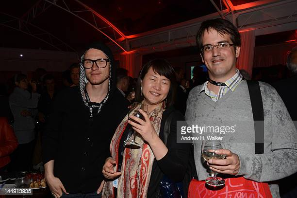 Sten Sauver Pomi Honj and Nicolas Archambault attends the Sake Night Korean Party during the 65th Annual Cannes Film Festival on May 20 2012 in...