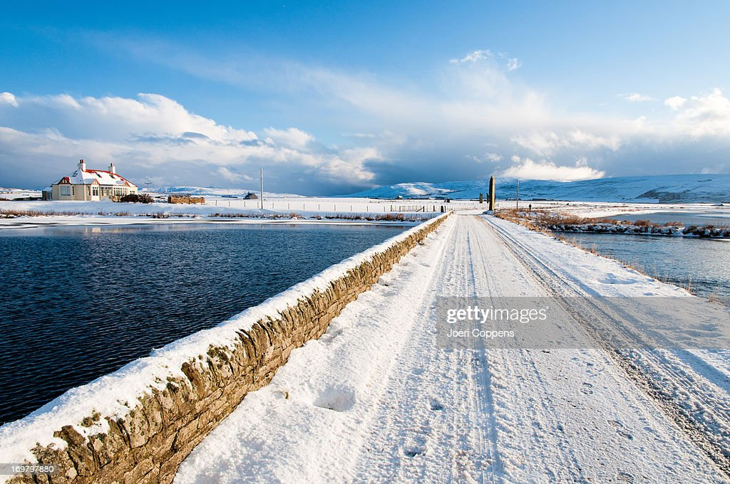 Stenness in Winter : Stock Photo