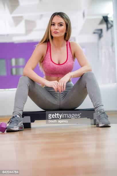 Step aerobics exercise