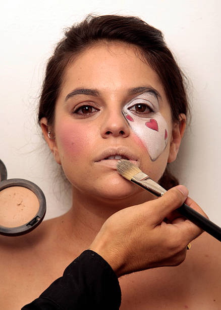 step by step on how to get three different halloween makeup looks this look done